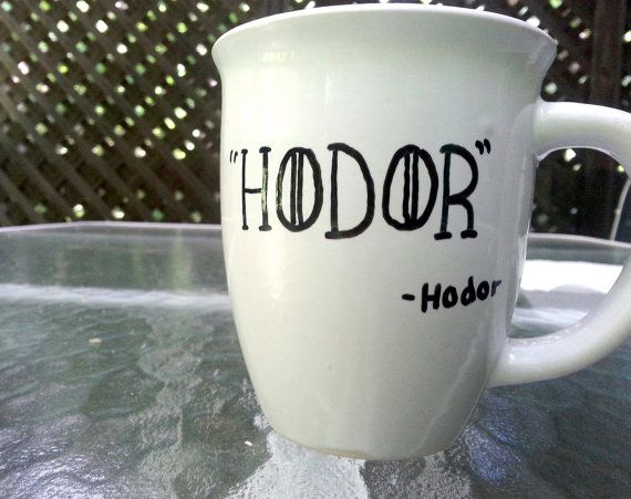 Hodor Quote Game Of Thrones Quote White by PaintedCollections, $12.00