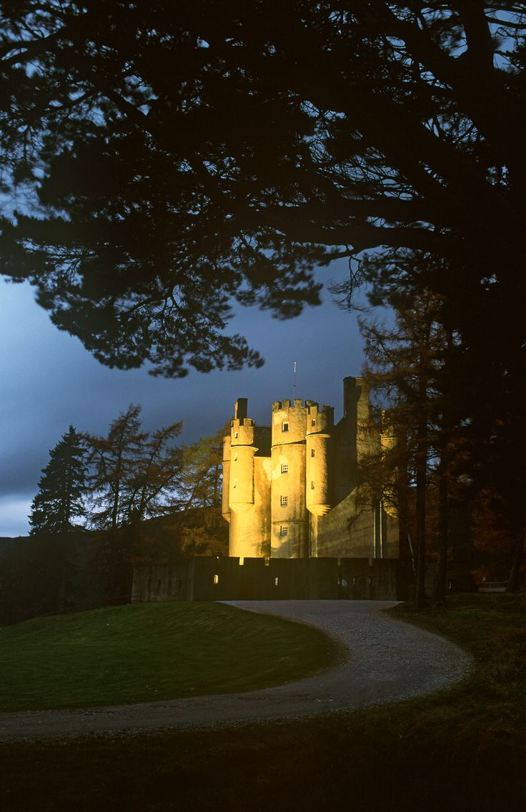 Braemar Castle, Aberdeenshire. A long time ago, whilst on honeymoon in the castle, a young woman awoke to find her husband gone. Convinced she'd made a bad wife, she jumped to her death from the battlements. Unfortunately, her husband had simply woken early to go hunting. The bride now appears when other newlyweds stay at the castle.