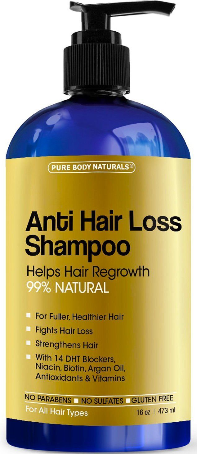 Pure Body Naturals Argan Oil Hair Loss Prevention Therapy Shampoo