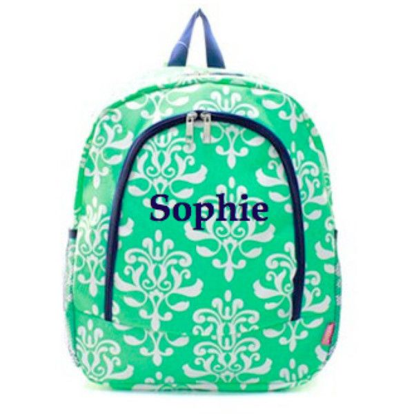 Child's Backpack / Personalized Backpack / Girls Personalized backpack / Great for school backpack / monogrammed backpack by jaxyrayboutique on Polyvore featuring polyvore, fashion and style