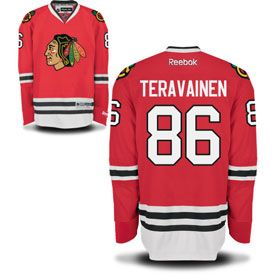 Get this Chicago Blackhawks Teuvo Teravainen Red Premier Jersey w/ Authentic Lettering at ChicagoTeamStore.com