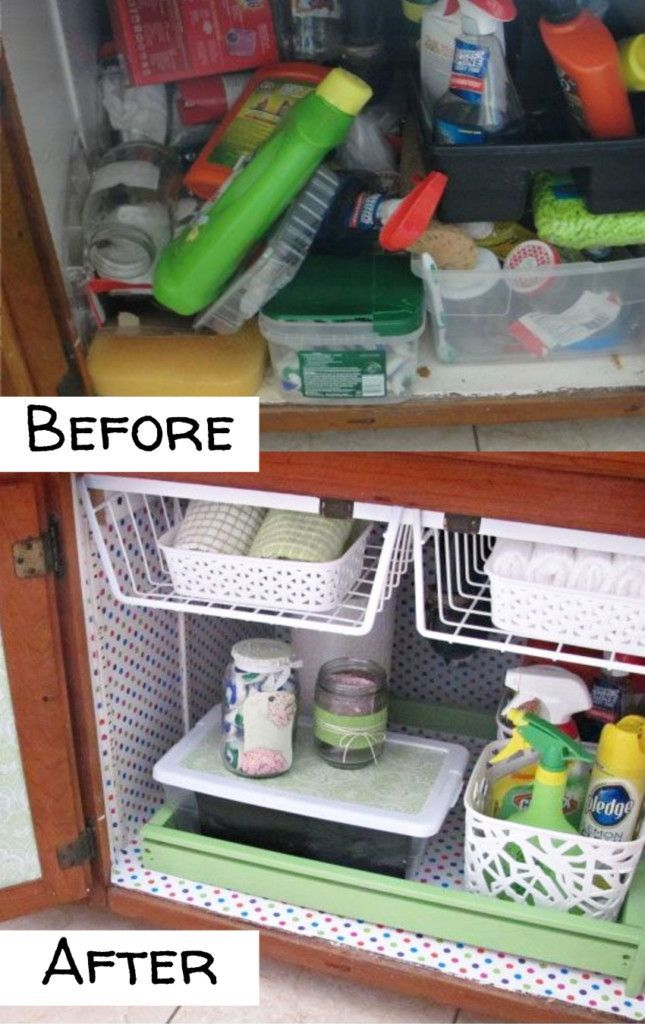 cheap easy ways to organize under your sink on a budget rh pinterest com