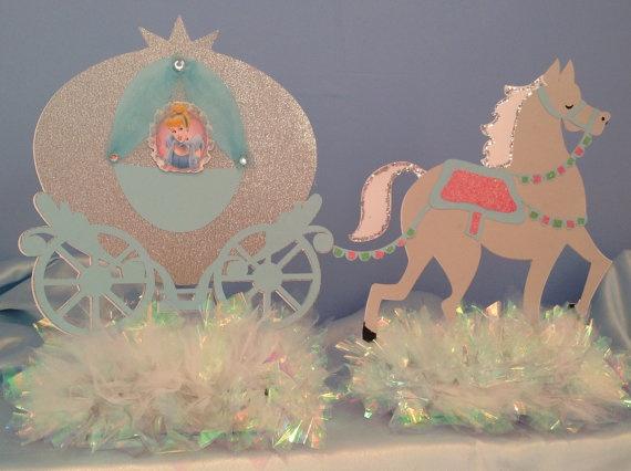Princess Carriage Centerpiece or Birthday Cake Topper  Birthday cakes ...