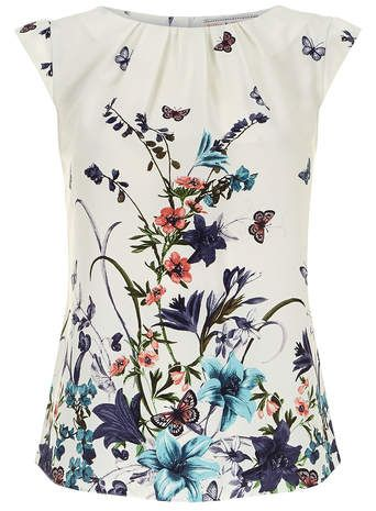 Billie and Blossom Cream butterfly shell top <3
