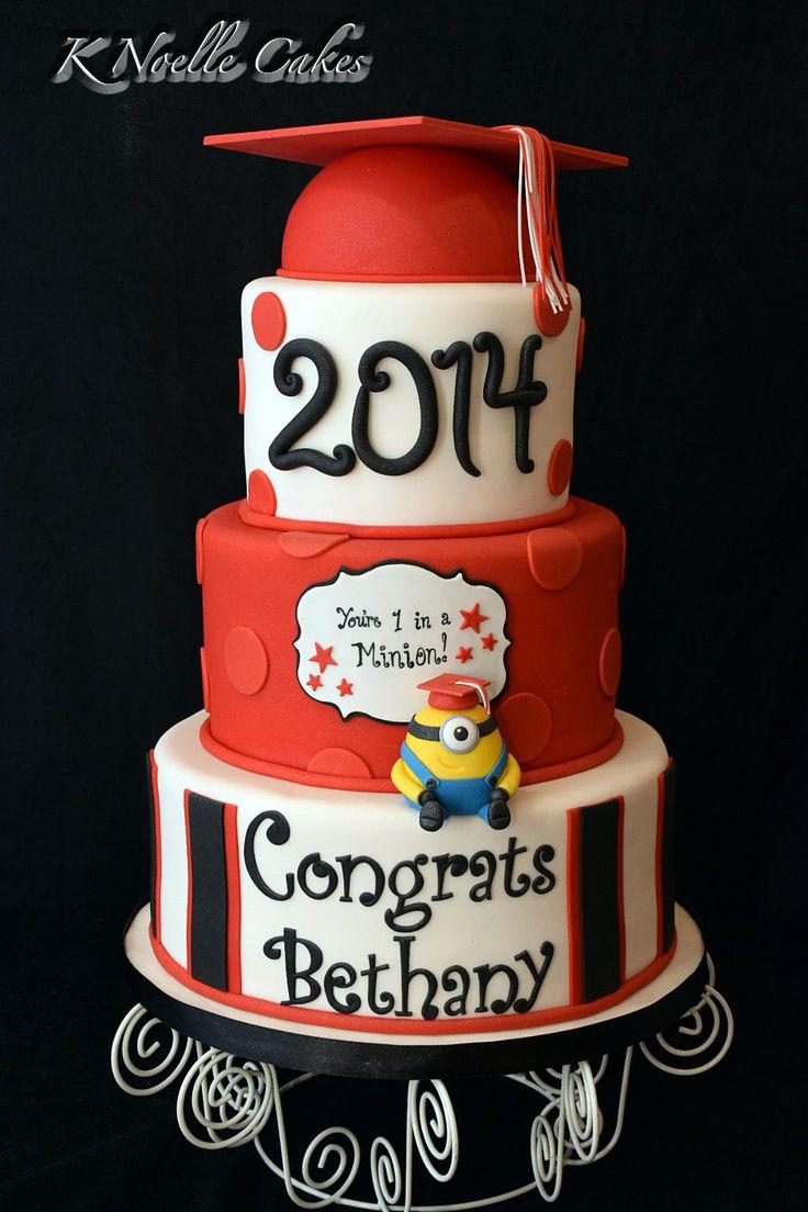 One in a Minion Graduation theme cake