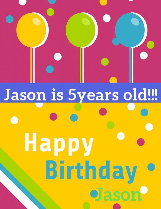 Birthday Card Template Birthday Card Template Kids Birthday Cards Birthday Poster