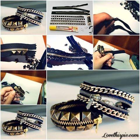 DIY Zipper Bracelets diy crafts craft ideas easy crafts diy ideas crafty easy diy diy jewelry diy bracelet craft bracelet jewelry diy