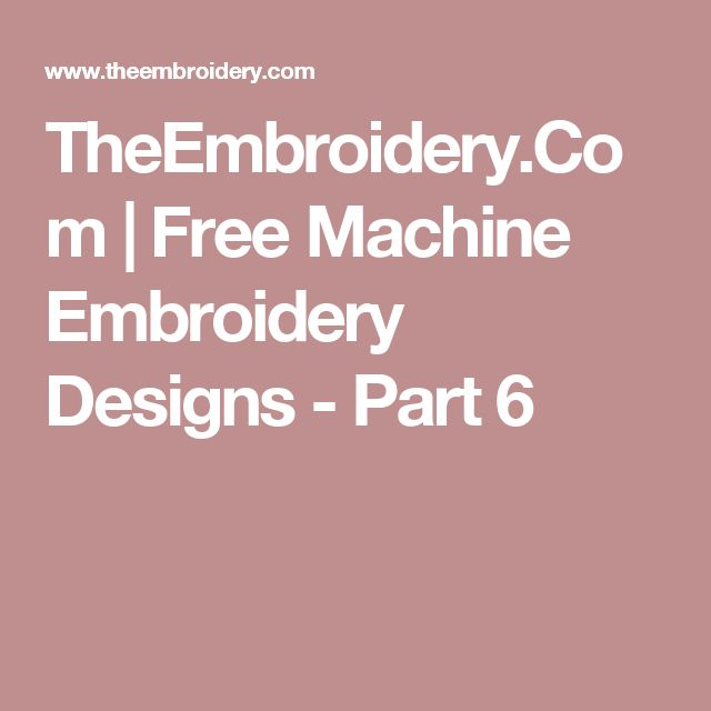 87 Best Free Embroidery Images On Pinterest Embroidery Embroidery