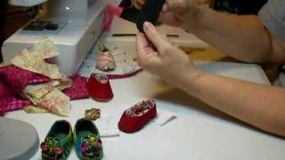 Make doll shoes with decorative flowers Diane Morello - YouTube
