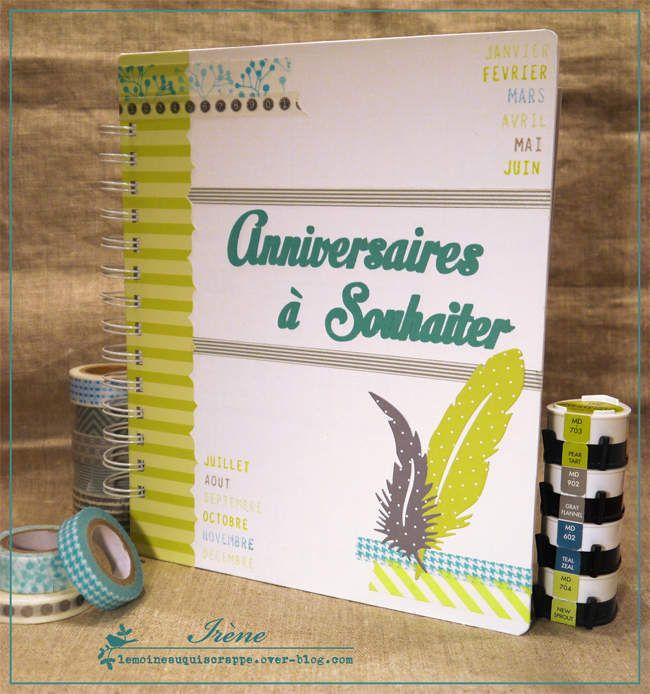 un calendrier des anniversaires bricolage et diy pinterest calendriers des anniversaires. Black Bedroom Furniture Sets. Home Design Ideas