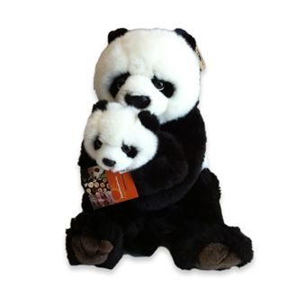 Plush panda mother & child, 28cm