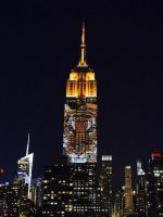 You Have To See These Endangered Species Projected Onto The Empire State Building #refinery29  http://www.refinery29.com/2015/08/91698/empire-state-building-racing-extinction-projections