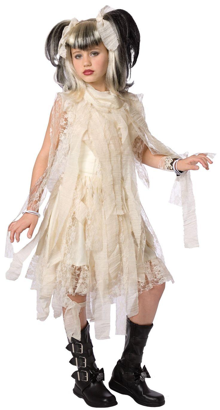 Disfraz novia gótica para niña: Este disfraz de novia gótica para niña está compuesto de un vestido rosa, un corset y un collar (peluca, zapatos y brazalete no incluidos). El traje sin mangas de color blanco...