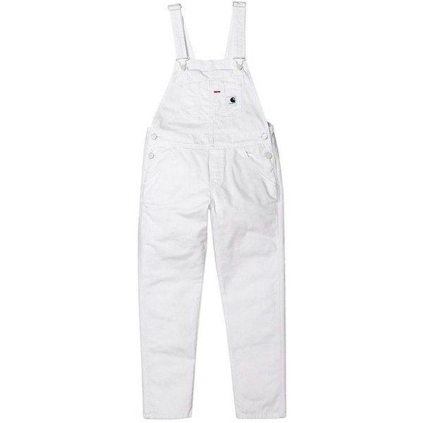 Carhartt W.I.P. BIB OVERALL ❤ liked on Polyvore featuring jumpsuits, white bib overalls, bib overalls, white overalls, carhartt jumpsuit and white jumpsuit