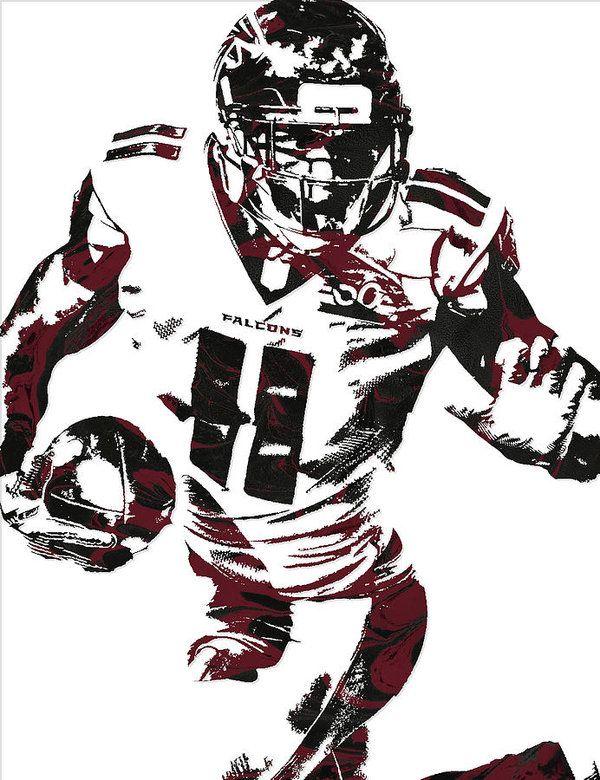 Julio Jones Atlanta Falcons Pixel Art 4 Art Print By Joe Hamilton Julio Jones Atlanta Falcons Falcons