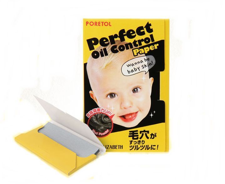 ELIZABETH PORETOL Perfect Oil Contol Paper Facial Skin Blotting Made in Japan #ELIZABETH
