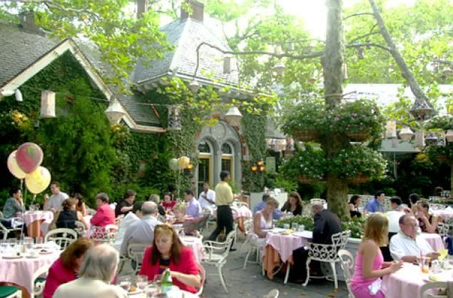 Tavern on the Green, bygone landmark restaurant in New York's Central Park ...a favorite spot - always got a menu signed by the staff every time there.