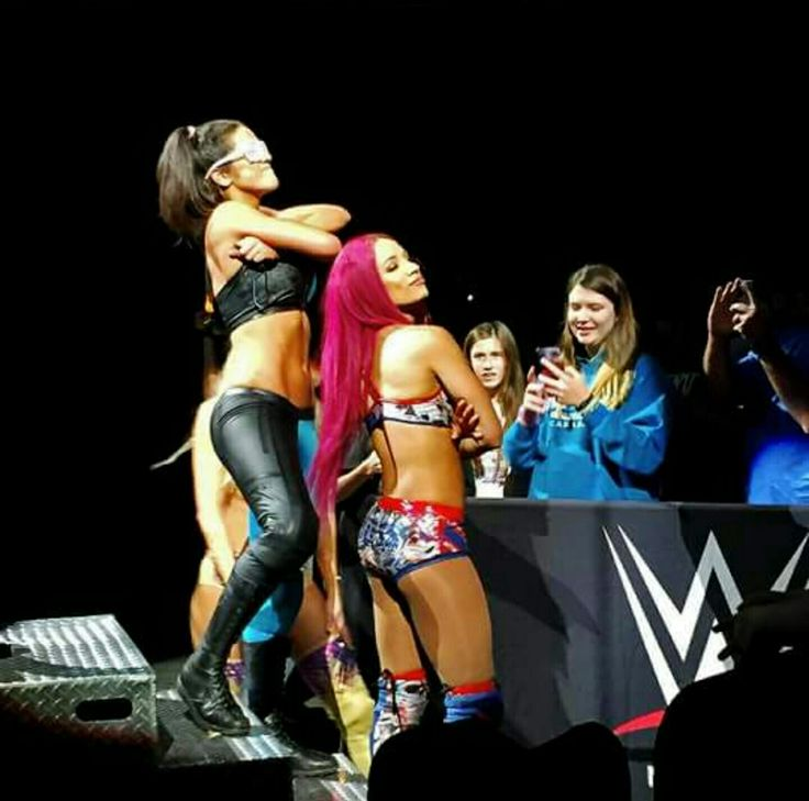 The Hugger Bayley & the BO$$ Sasha Banks! Gotta love them working together & against each other