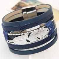 Feather Shape Decorated Multilayer Design Blue