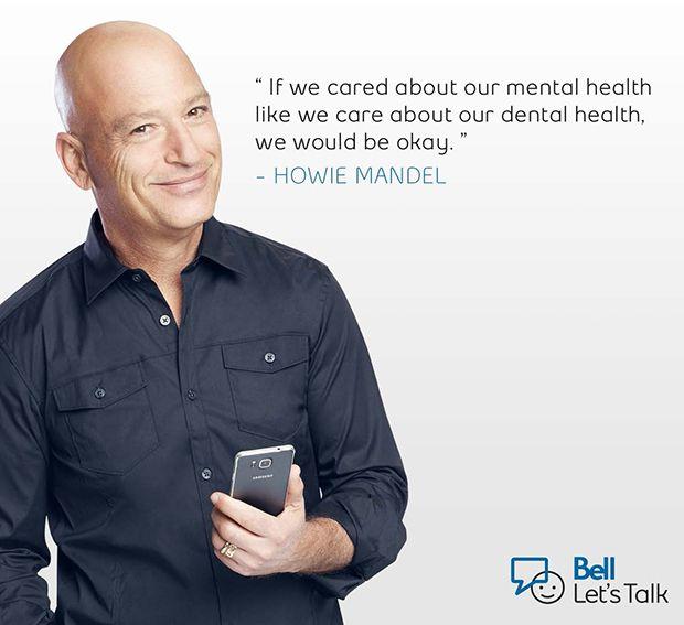 talk about mental health | Bell Let's Talk | Howie Mandel| beliefnet | terezia farkas
