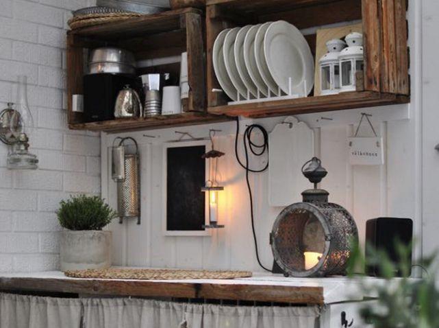 meubles de cuisine en cagettes