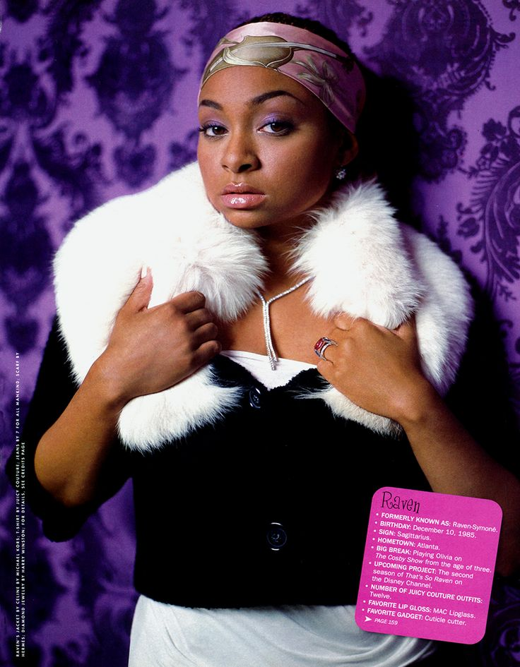 Raven-Symone, Vanity Fair July 2003