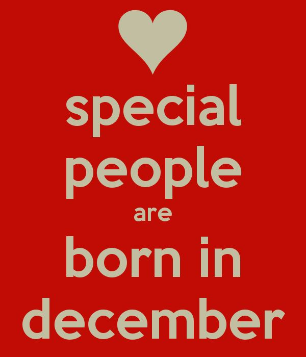 special people are born in december