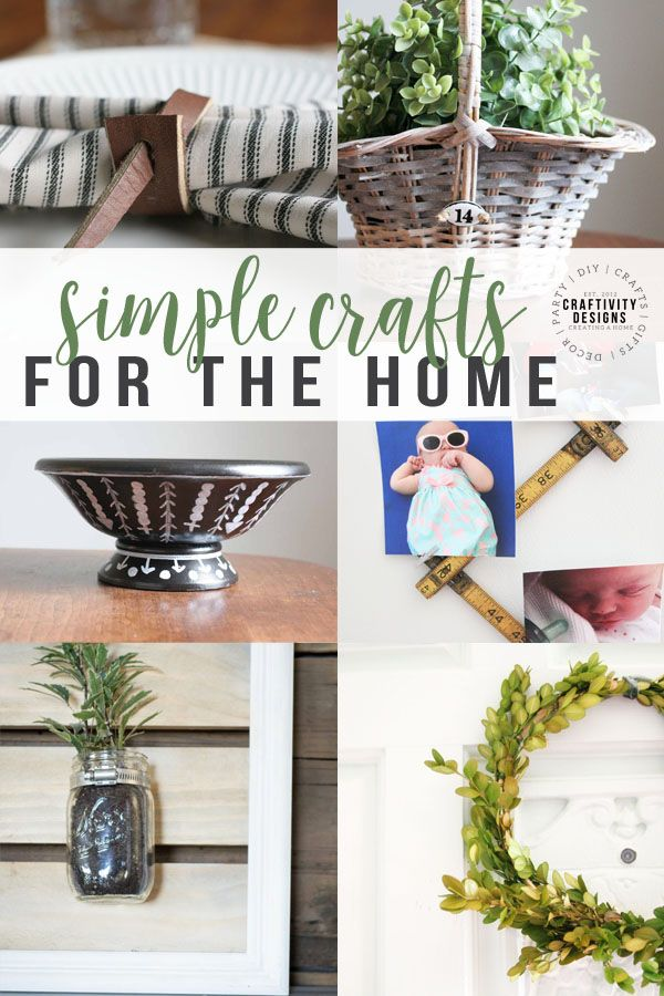 Simple Crafts For The Home Crafts Home Decor Diy Crafts For Adults