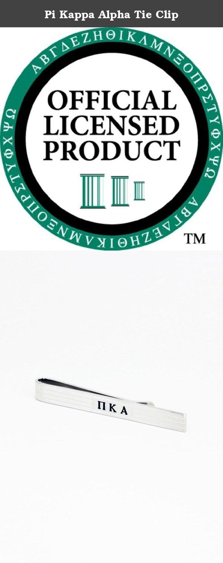Pi Kappa Alpha Tie Clip. Simple and timeless design with Pi Kappa Alpha letter engraved in the center. Rhodium plated for a lasting finish. An elegant piece to complete your professional attire. A true gentleman's accessory, Pi Kappa Alpha tie bar clip is designed exclusively for The Collegiate Standard. Comes in a nice gift box! Make it the perfect gift for your big or little bro!.