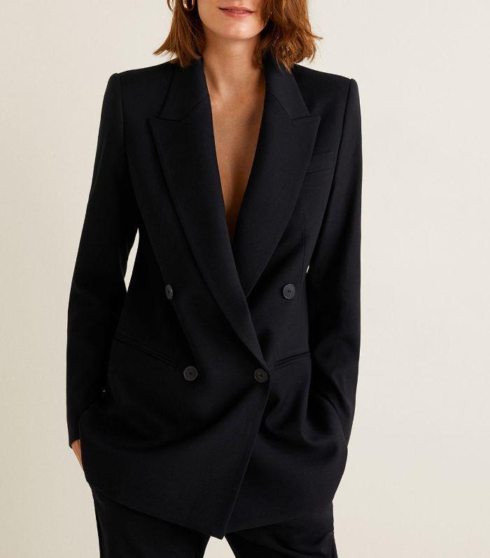 Double breasted blazer Women   Mango USA   Blazers for