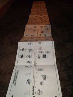 About timelines and free printable timelines figures. How to make an accordion timeline.