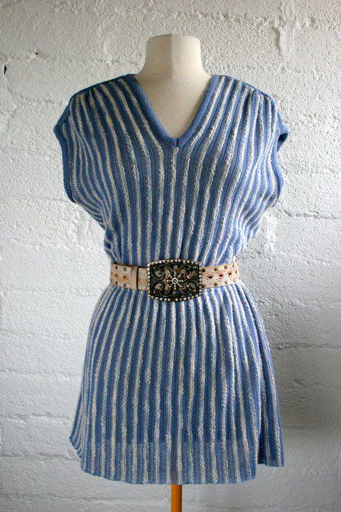 revamped 80's knit & 80's belt