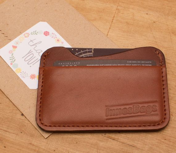 Credit card holder. Leather credit card wallet. Two by InnesBags