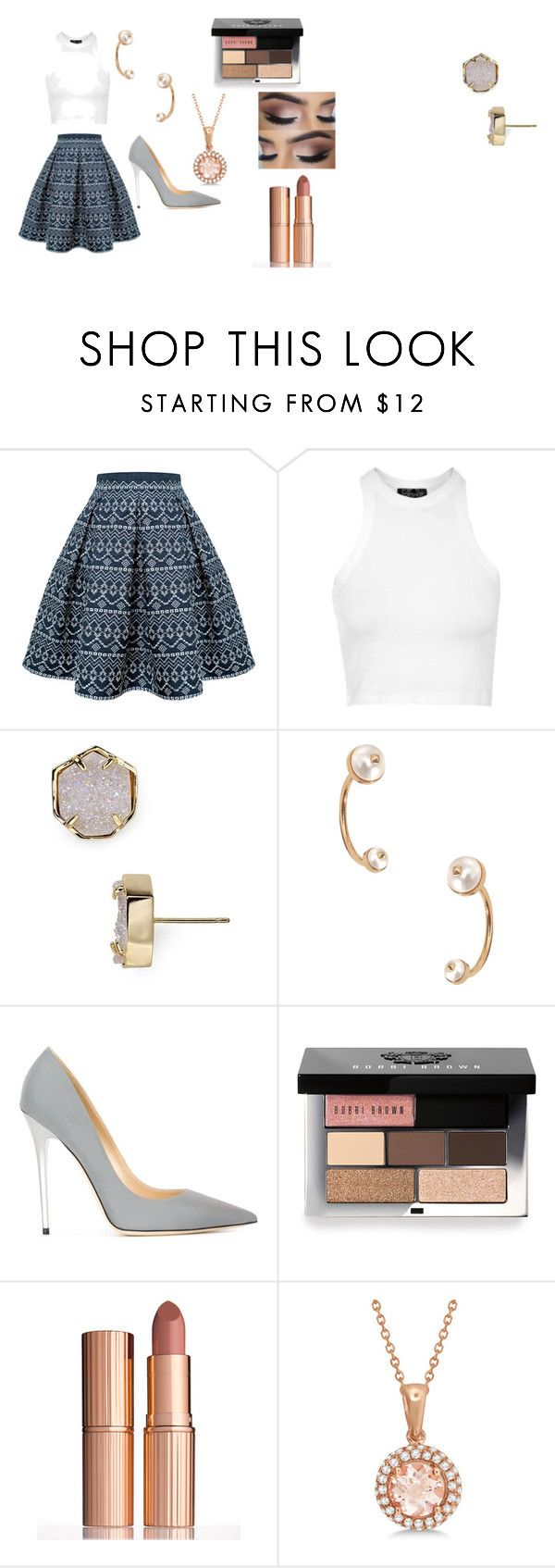 """prom"" by keeshac on Polyvore featuring Rumour London, Topshop, Kendra Scott, Valentino, Jimmy Choo, Bobbi Brown Cosmetics, Charlotte Tilbury, Allurez, women's clothing and women"