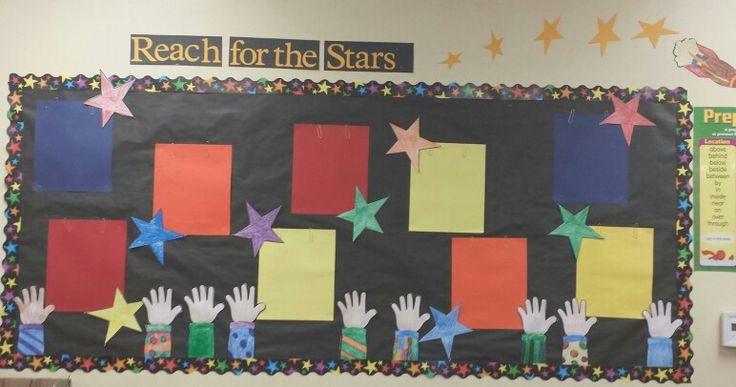 Reach for the sky inspired bulletin board