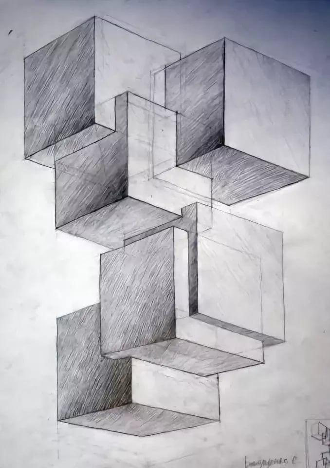 включилась сигнализация, геометрическая перспектива картинки приведенный ниже