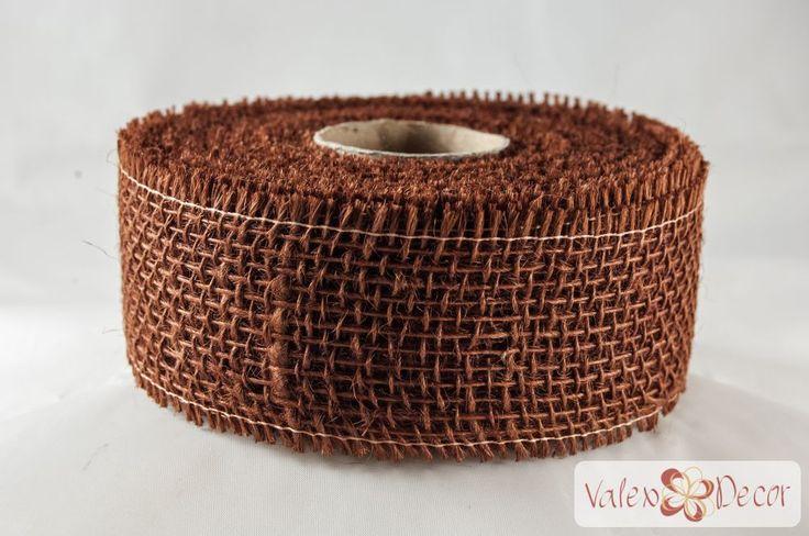 Juta szalag - Csokoládé - Valex Decor Kft. | Virágkötészeti kellékek és dekorációk webáruháza