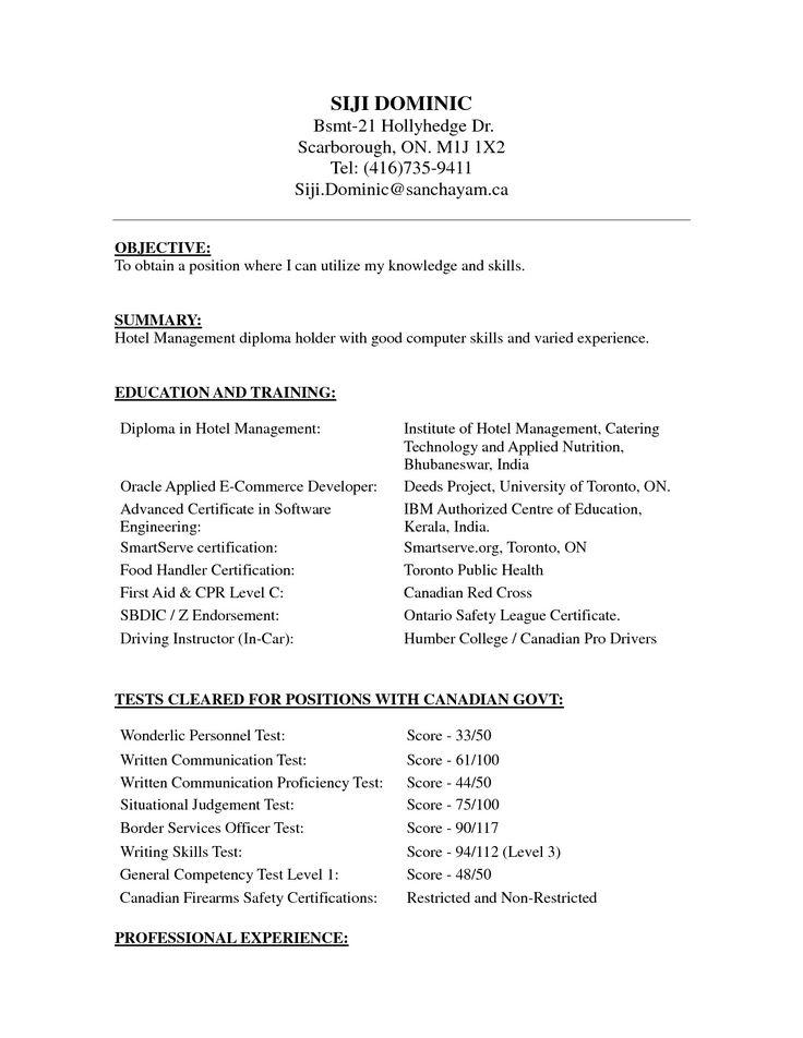 Zookeeper Resume format, Resume format in word, Resume