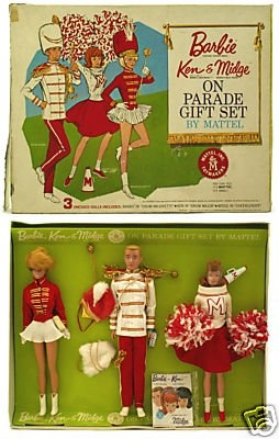vintage Barbie, Ken & Midge Gift set