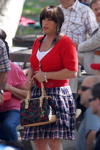 Barbara is that YOU?? LOL  (Adam Sandler dresses in drag for movie Jack and Jill!)