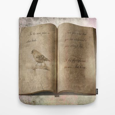 Just Fly... Tote Bag by Oscar Tello Muñoz - $22.00