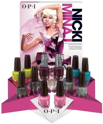 nicki minaj's OPI nail polish line.