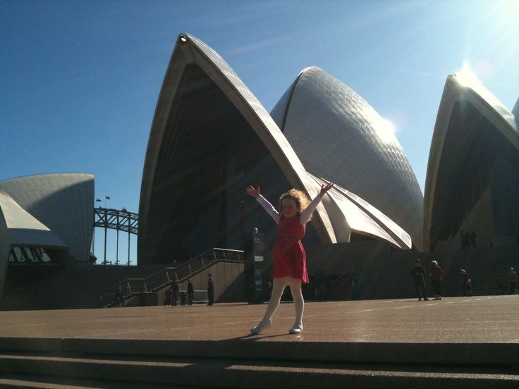 Jumping for joy at the Sydney Opera House