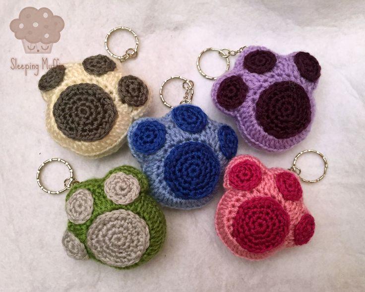 Huella amigurumi - huella animal crochet, huella de perro.