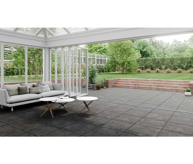Luna Ash Outdoor Matt Porcelain Slab Tile Outdoor Tiles Outdoor Furniture Sets Durable Tiles