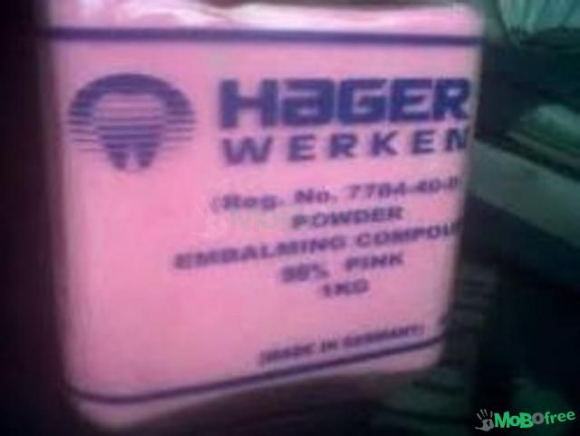 Hot Hager Werken Embalming Compound Pink Powder For Sale +27638250062 German Produced Hager Werken Embalming Compound Pink Powder in General @ affordable prices Hager werken embalming powder or watsup me on made in Germany, available in Johannesburg Sou