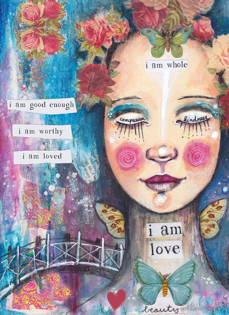 A Valentine of Self-Love – Free Print Gift! :) (Willowing Arts)