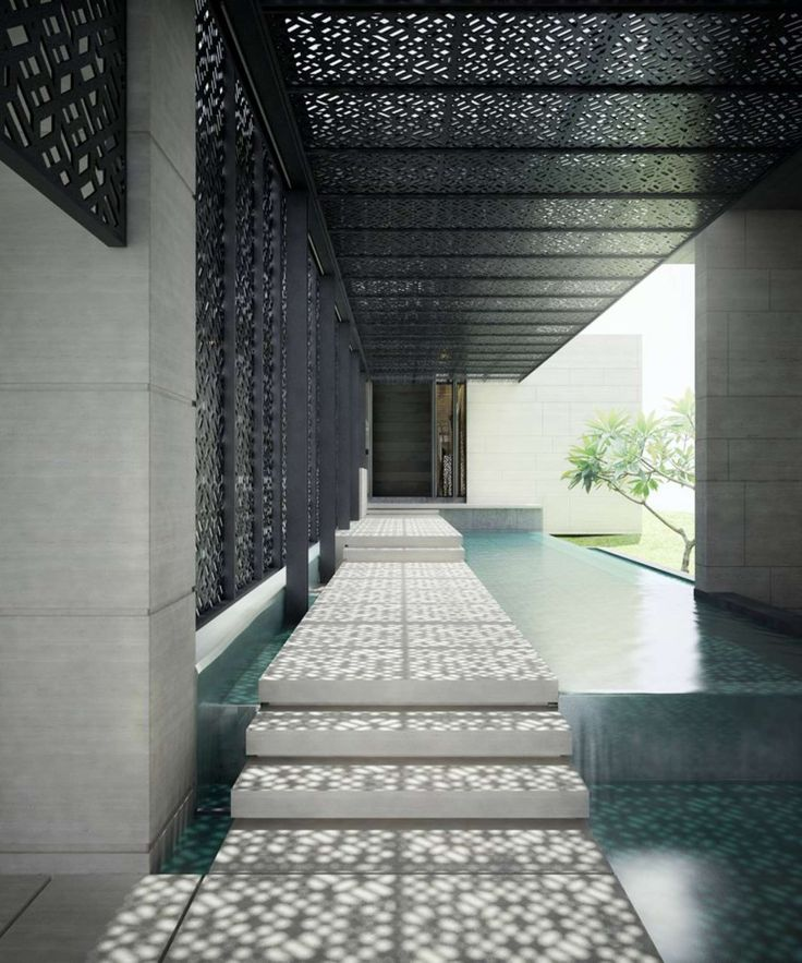 Amazing Shading Device! #Design Singaporean Luxury Villa on Architizer