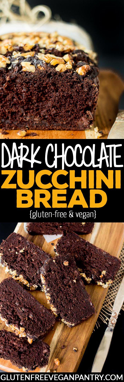 Dark Chocolate Zucchini Bread - Vegan + Gluten-free | glutenfreeveganpantry.com