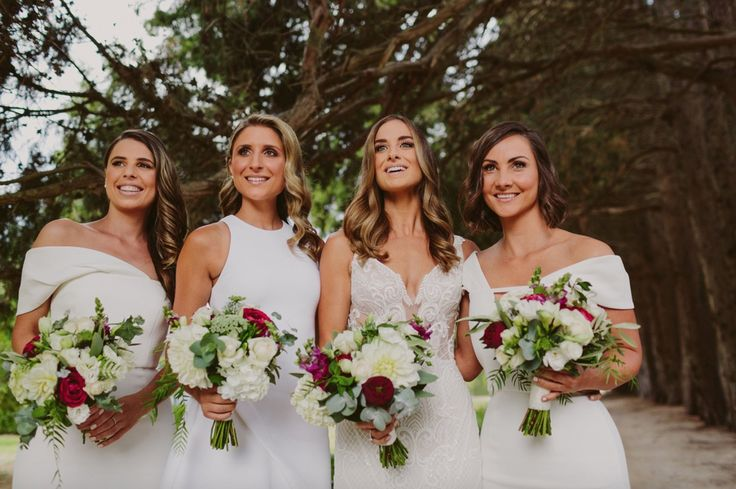 White wedding.  I love this look.  Celebrant: Sally Hughes Image: Beck Rocchi Photography Flowers: Sugarbee Flowers